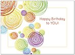 Bright Circles Birthday Card A5023U-Y