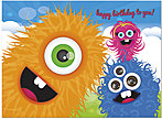 Monster Bash Birthday Card A5024U-Y