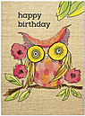 Pink Owl Birthday Card A5025U-Y