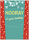 Hooray Birthday Card A5027D-Y