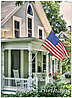 Patriotic Porch Birthday Card A5029U-X