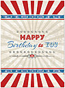 Stars and Stripes Birthday Card A5042U-X
