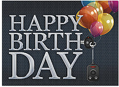 Chrome Wishes Birthday Card A5045U-Y