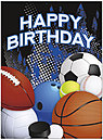 Have a Ball Birthday Card A5046U-Y