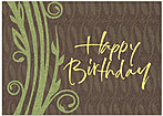 Organic Leaves Birthday Card A5047KW-X