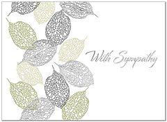 Leaf Pattern Sympathy Card A5051U-X
