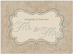 Mr. & Mrs. Congratulations Card A5056U-X