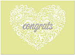 Filigree Heart Congrats Card A5057U-X