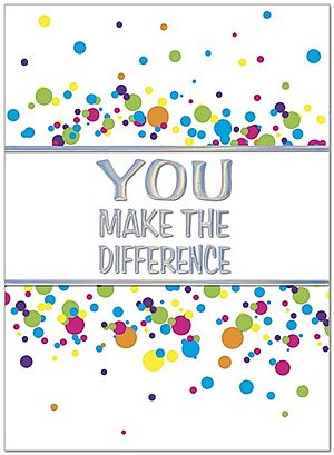 You Make the Difference Card A5067U-X