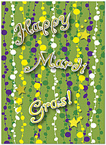 Party Gras Card A5083U-X
