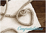 Tying the Knot Wedding Card D5058D-Y