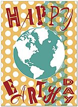 Modern Earth Day Card D5060U-Y
