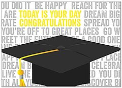 Today's Your Day Graduation Card D5063D-Y