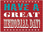 Great Memorial Day Card D5080U-Y