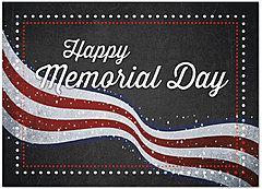Flag Banner Memorial Day Card D5081D-Y