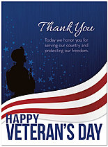 Veteran's Day Heroes Card D5084U-Y