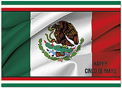 Mexican Flag Card D5099D-Y