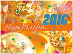 Happy 2016 Card D5211U-A