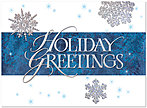 Snowflake Greetings Holiday Card H5171S-AAA