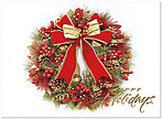 Traditional Wreath Holiday Card H5172G-AAA