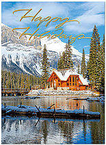 Winter Cabin Holiday Card H5179G-AAA