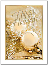 Golden Ornaments Holiday Card H5183G-AAA