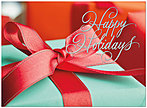 Sparkle Ribbon Holiday Card H5185U-AA