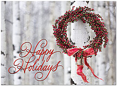 Winter Wreath Holiday Card H5191U-AA