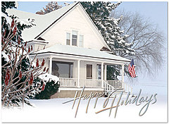 Snowy Home Holiday Card H5198U-AA