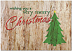 Rustic Christmas Card H5201KW-AA