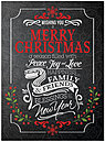 Seasonal Wishes Christmas Card H5204U-A