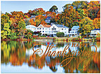 Fall Lake Estate Thanksgiving Card H5102G-AAA