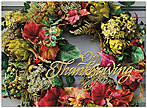 Thanksgiving Wreath Card H5108U-AA