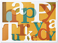Turkey Day Thanksgiving Card H5110U-AA