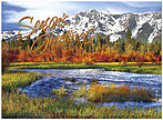 Seasonal Mountain Thanksgiving Card H5112U-AA