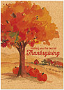 Pumpkin Tree Thanksgiving Card H5117KW-AA