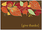 Contemporary Leaves Thanksgiving Card H5118KW-AA