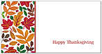 Seasonal Leaf Border Card H5121T-B