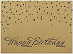 Gold Lustre Birthday Card A6000G-4W