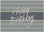 Simple Chevron Birthday Card A6002S-W