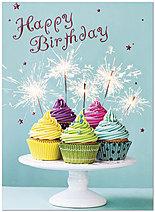 Sparkle Cakes Birthday Card A6007S-W