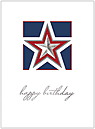 Red, White and Blue Birthday Card A6009S-W