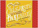 Celebrate Birthday Card A6010U-X