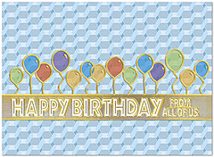 From All Birthday Card A6011U-X