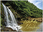 Exotic Waterfall Birthday Card A6012U-X