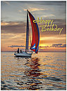 Birthday Sailing Card A6019U-X