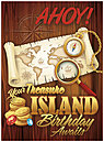 Treasure Island Birthday Card A6024U-Y