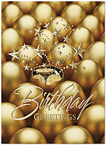 Golden Eggs Birthday Card A6028U-X