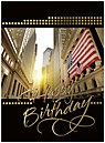 Wall Street Sunset Birthday Card A6029U-X