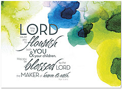 Watercolor Blessing Birthday Card A6031U-Y